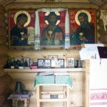 Pyhän Herman Alaskalaisen tsasounan sisäkuva