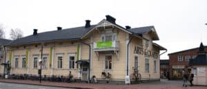 Juhani Mustosen rakennuttama talo, jossa nykyisin Taitokorttelin kulttuuri- ja matkailukeskus.